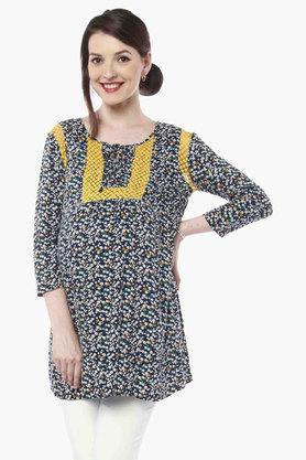 NINE MATERNITY Maternity Floral Tunic