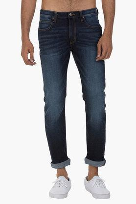 LEEMens 5 Pocket Slim Fit Mild Wash Jeans (Powell Fit)
