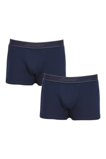 Mens Solid Trunks - Pack of 2