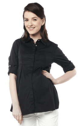 NINE MATERNITY Maternity Simple  Nursing Shirt