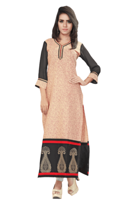 DEMARCA Womens Printed Kurta (Buy Any Demarca Product & Get A Pair Of Matching Earrings Free) - 200936940