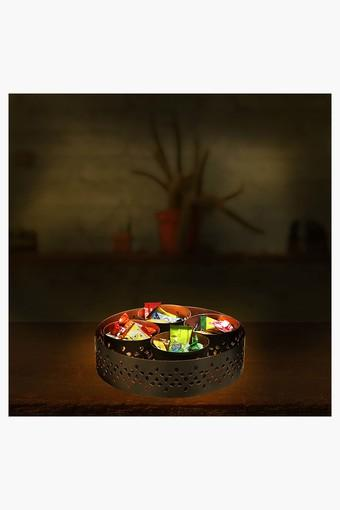 Decorative Wrought Iron Round Candle Holders 4 in 1