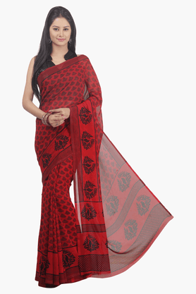 JASHN Womens Printed Saree - 201502447