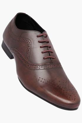FRANCO LEONE Mens Leather Lace Up Oxford Shoes - 202658096