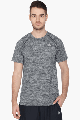 "ADIDAS Mens Short Sleeves Crew Neck Slub T-Shirt & In Description To ""crew Neck"""
