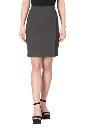 Womens Slub Formal Skirt