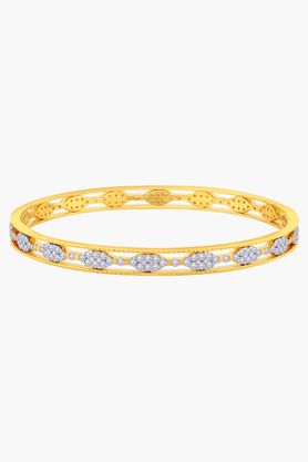 MALABAR GOLD AND DIAMONDSWomens 18 KT Gold And Diamond Bangle - 201203480