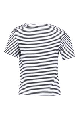 Boys Round Neck Striped Tee