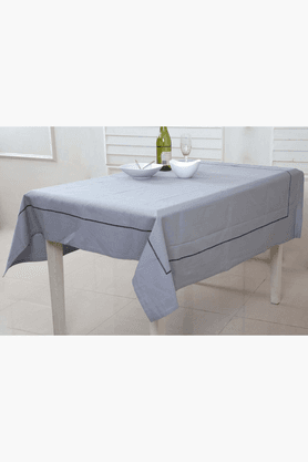 MASPAR Celtic Emb Stripe Grey 4 Seater Table Cover