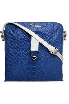 Womens Moroso Leather Zipper Closure Sling Bag