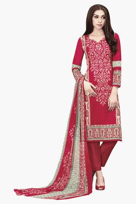 DEMARCAWomens Printed Dress Material - 201151787