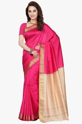 ISHIN Womens Colour-blocked Saree