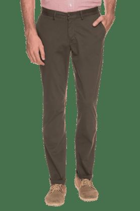 BLACKBERRYSMens Slim Fit Solid Chinos - 200889322