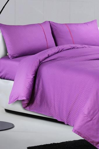 Oxford Solid Pure Cotton Single Bedsheet with 1 pillow cover 400 TC