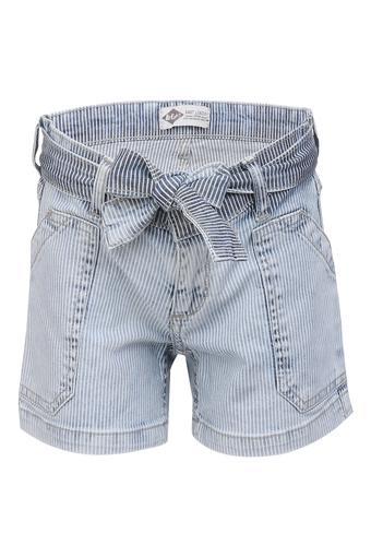 Girls 2 Pocket Striped Shorts