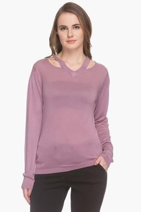 MSTAKEN Womens Cut-out Neck Sweater (Buy For 4500 And Get 1000 Off)