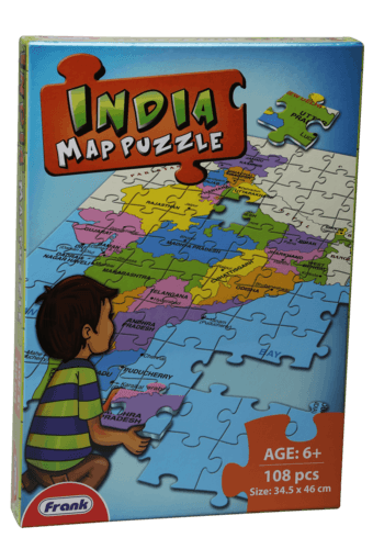 India Map Puzzle.Buy Frank Unisex Frank India Map Puzzle Shoppers Stop