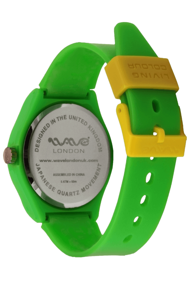 Coral Neon Green Unisex Watch