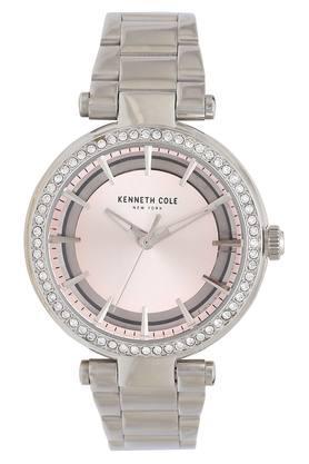 Womens Pink Dial Metallic Analogue Watch - KC50798001LD