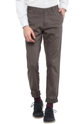 Mens 5 Pocket Slub Formal Trousers