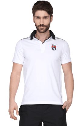 REEBOKMens Short Sleeve Solid Polo T-Shirt (Use Code FB15 To Get 15% Off On Purchase Of Rs.1200)
