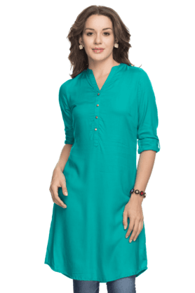 STOP Women 3/4th Sleeves Regular Fit Kurta
