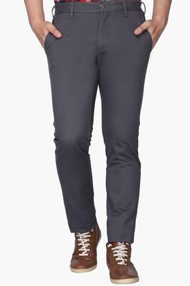 LOUIS PHILIPPE SPORTS Mens Slim Fit 4 Pocket Solid Chinos (Steven Fit)