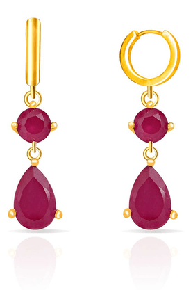 MAHI Mahi Gold Plated Ruby Drops Earrings Made With Ruby For Women ER1108064G
