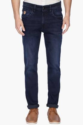 U.S. POLO ASSN. DENIM Mens 5 Pocket Slim Fit Mild Wash Jeans ( Brandon Fit)
