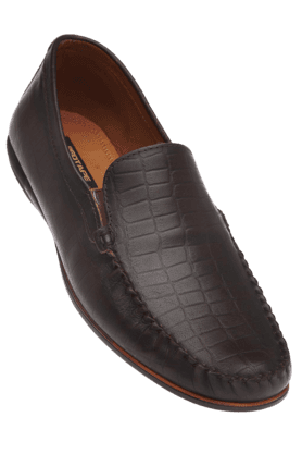 RED TAPE Mens Brown Leather Casual Slipon Shoe