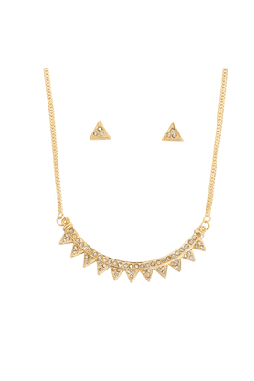 TOUCHSTONE Necklace Set -Mangalsutra Style - 8616246
