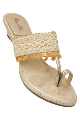 RAW HIDE Womens Casual Slipon Wedge Chappal - 200962279