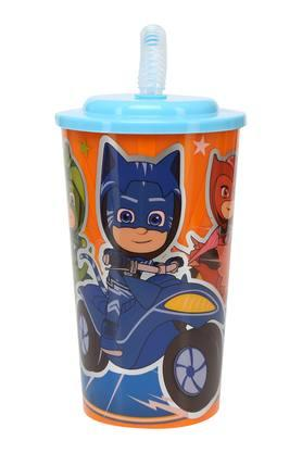 Unisex Cylindrical PJ Mask Hero Sipper with Straw - 450ml