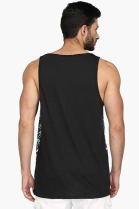 Mens Round Neck Printed Vest