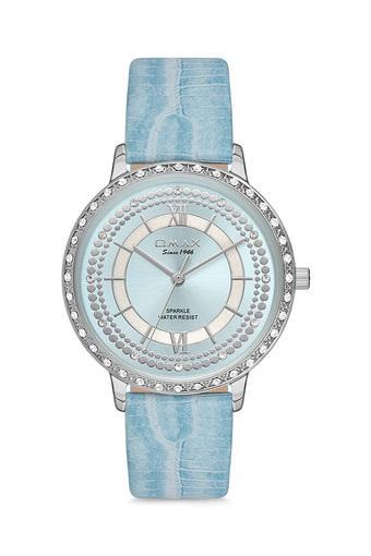 Womens Sparkle Blue Dial PU Analogue Watch - FA9-SPL02P44L