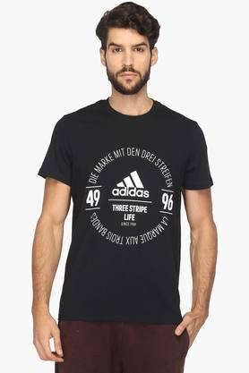 ADIDAS Mens Round Neck Printed T-Shirt - 201915487