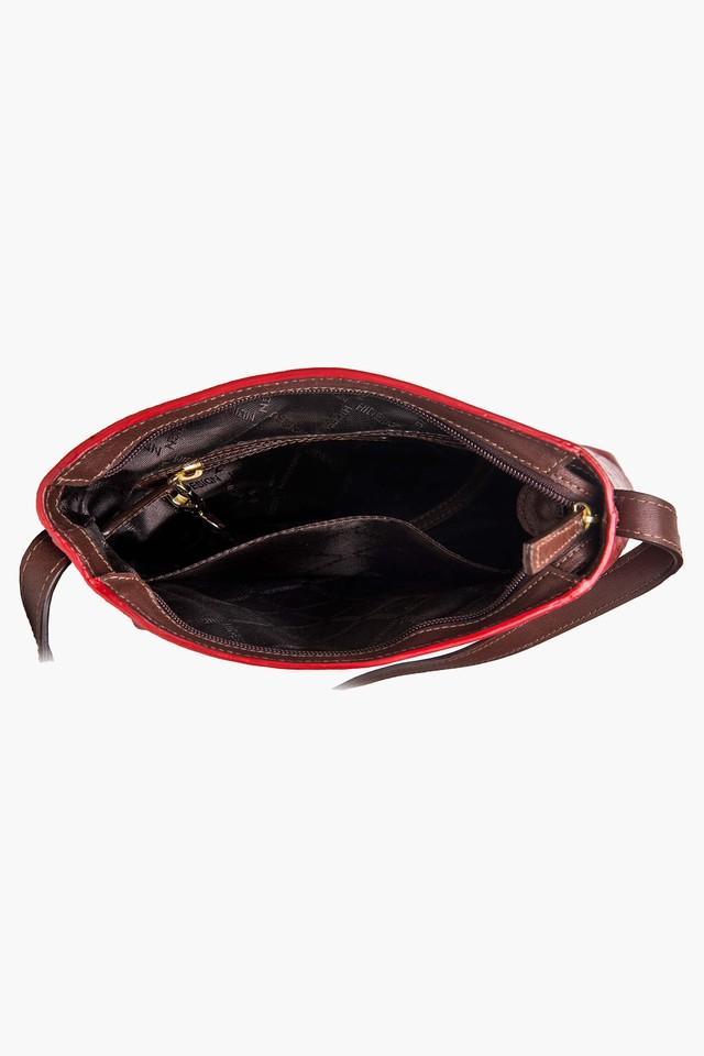 Womens Amore Zipper Closure 3 Compartment Sling Bag