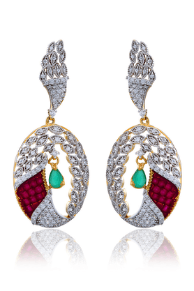 ZAVERI PEARLS Brass Drop Earring - ZPFK813