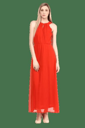 Women Halter Neck Maxi Dress
