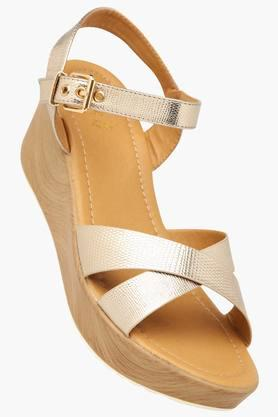 TRESMODE Womens Casual Ankle Buckle Closure Wedge Sandal - 201444114_9124