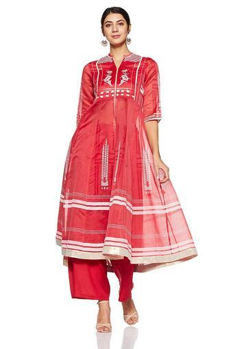 W -  RedSalwar & Churidar Suits - Main