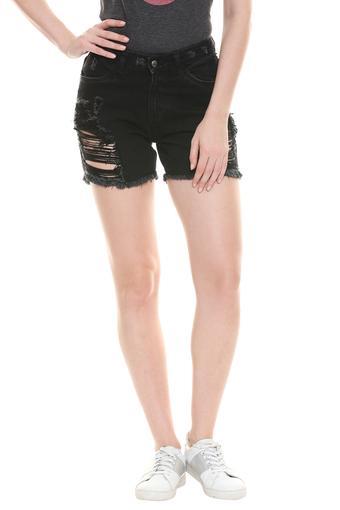 DISHA PATANI FOR GLAM LIFESTYLE -  BlackCapris & Shorts - Main