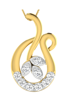 SPARKLES His & Her Collection 18 Kt Pendant In Gold & Real Diamond HHP9782