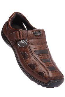 ALBERTO TORRESIMens Leather Velcro Sandal