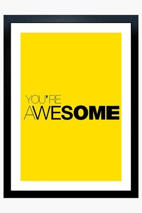 CRUDE AREA Multi Colour You Are Awesome Printed Paper Poster  ...