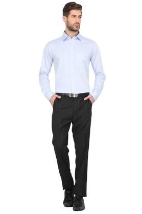 Mens 4 Pocket Check Formal Trousers