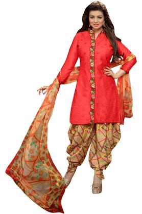 DEMARCACotton Designer Dress Material