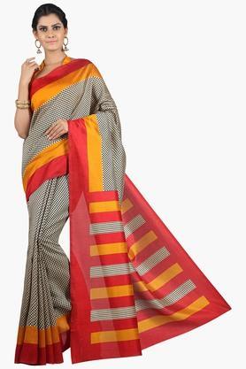 JASHN Women Tussar Silk Printed Saree  ... - 201860668