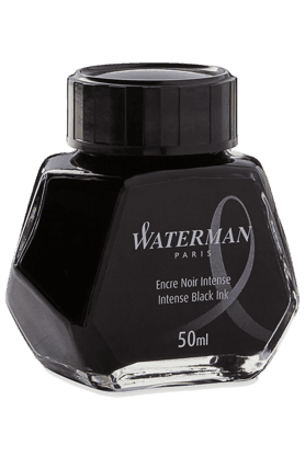 WATERMAN 50 Ml Bottled Liquid Fountain Pen Ink, Intense Black