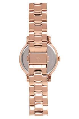 Womens Beige Dial Metallic Analogue Watch - 95108WM01